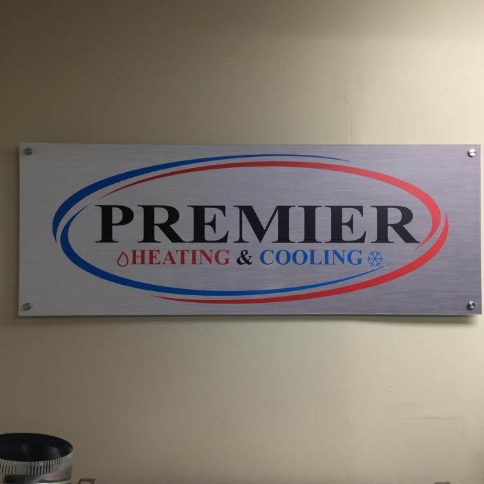 wall signage, stand offs, logo, vinyl, interior signage